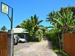 Gate, parking, Vai Hau 1rst bungalow