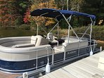 2016 60hp pontoon, available at discount rate when renting Summer Breeze home