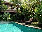 Pool, nestled in tropical garden