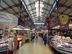 Narbonne indoor food market.