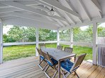 Screened Porch Opens to Deck Area