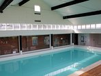 Access to the pool is via a communal indoor walkway