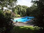 Outdoor heated swimming pool available from late May until early September