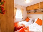 Twin room with storage book your stay at this caravan.
