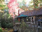 Fall color at Creekstone Cabin.