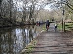 Canal Towpath perfect for walking or Cycling.