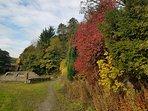 Bugsworth Canal basin in Autumn.