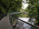 'Millennium walkway' in The Torrs Riverside park. New Mills
