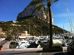 Calpe Rock from the Port