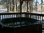 Hot Tub on Covered Deck with Awesome Views of the Ski Slopes and the Mountains