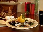 Oysters and Guinness at Mulranny Park hotel 2 min walk