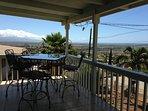 front balcony with Leeward Coast view facing Ocean, sunrise over Diamond Head & island lights at eve