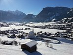 Picture postcard views from Chalet Vista, beautiful winter scenery.
