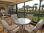 Extra large lanai/porch overlooking the beach