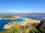 famous Voidokilia beach, near our villa