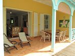 MARLENE... adorable 2 bedroom townhome in the heart of Orient Bay, French St Martin ******* 8555