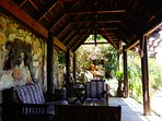 Enjoy the coolth of the shaded cabana in the heat of the day