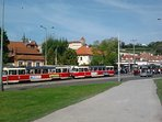 Malostranska Metro/Trams station in front of the house!