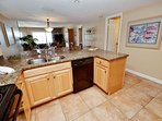 Beautiful updated kitchen with new kitchen cabinets, counter tops and appliances.