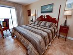 Gulf front master bedroom with beautiful views and sunsets!