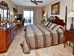 Gulf front master bedroom.