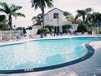 Large heated pool area