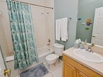 Guest bathroom with bathtub/shower combo