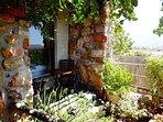 Cosy private outdoor area of the Garden Studio