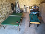 Barn games area - table tennis, pool, table football, darts, pogo stick!!