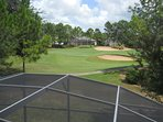 View of golf course from upstairs Master bedroom