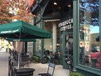 Starbucks is next door!