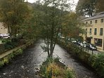 River running through Hebden Bridge by Oldgate House