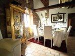 Sala colazione nel casale La Duchessa