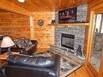 Lower living room w/TV