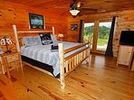 King log bed w/TV in Lower