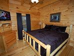 King Log Bed in Master w/TV