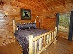 King Log bed in Loft