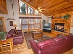 Living Room w/TV, Sofa Sleeper, Fireplace