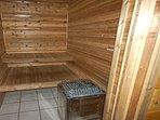 Sauna in lower