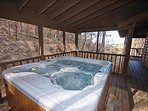 Enjoy this large hot tub