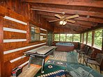Relax in the screened in deck and grill out