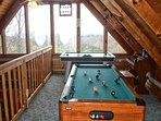 Pool Table In Loft