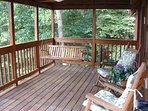 Relax in the Porch Swing or Log Rockers