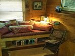 Read a book or take a nap in the newly added loft daybed