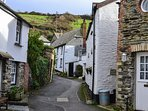 One of the quaint streets in Port Isaac
