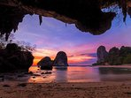 Divine sunset from Phra-Nang Cave Beach.
