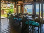 dinning view from villa payung