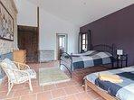 Ground floor bedroom , one single one double also with en-suite .