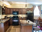 Large Gourmet Kitchen with Island...Fully Stocked