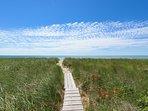 Board Walk to the Beach leads To Beach Stone Path to Beach